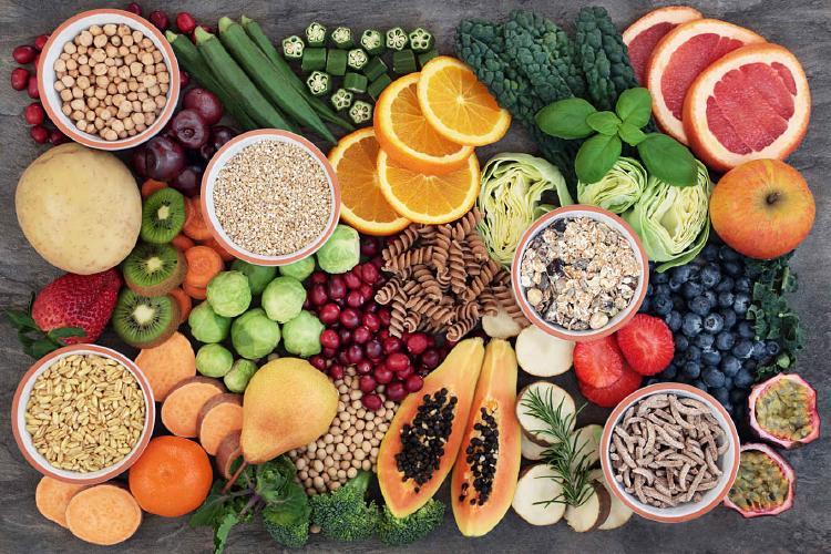 Potraviny bohaté na sacharidy.
