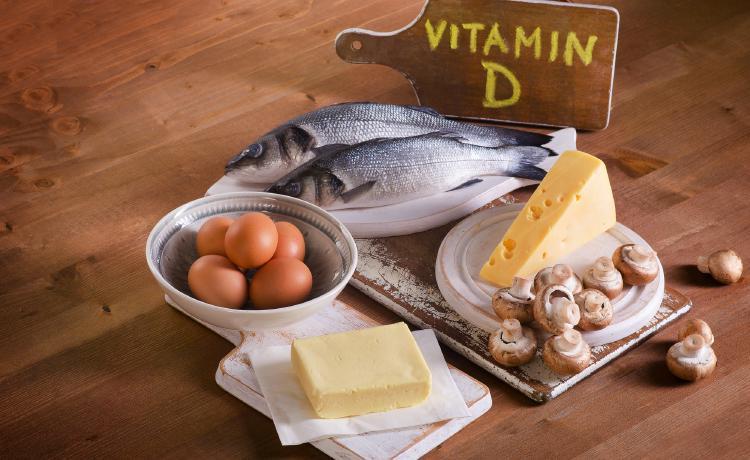 Potraviny bohaté na vitamín D.